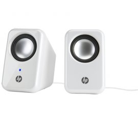 HP Multimedia 2.0 Speakers Argento, Bianco Cablato