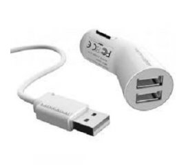 INQ007 CARICABATT.AUTO 3.2A 2USB X IPHONE/IPOD/IPAD BIANC