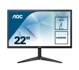 "AOC Basic-line 22B1H monitor piatto per PC 54,6 cm (21.5"") 1920 x 1080 Pixel Full HD LED Nero"