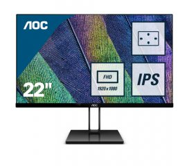 "AOC Value-line 22V2Q monitor piatto per PC 54,6 cm (21.5"") 1920 x 1080 Pixel Full HD LED Nero"