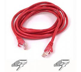 Belkin Cable patch CAT5 RJ45 snagless 1m red cavo di rete Rosso