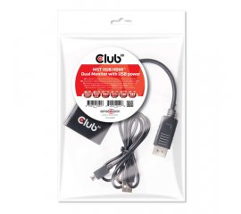CLUB3D Multi Stream Transport Hub DisplayPort 1.2 to HDMI Dual Monitor