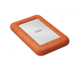 LaCie Rugged Mini disco rigido esterno 1000 GB Arancione, Argento