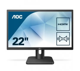 "AOC Essential-line 22E1D monitor piatto per PC 54,6 cm (21.5"") 1920 x 1080 Pixel Full HD LED Nero"