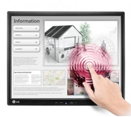 "LG 17MB15T-B monitor touch screen 43,2 cm (17"") 1280 x 1024 Pixel Nero Single-touch Multi utente"