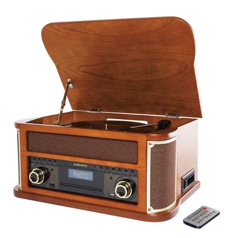 New Majestic TT-44 BT TP USB CD Legno venduto su Radionovelli.it!