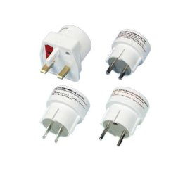 Vivanco Travel plug set adattatore e invertitore Bianco
