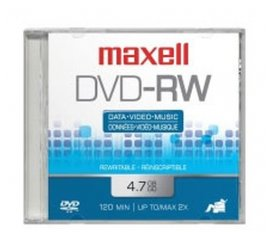 MAXELL DVD-RW 4.7GB 2X JEWEL CASE 5PZ