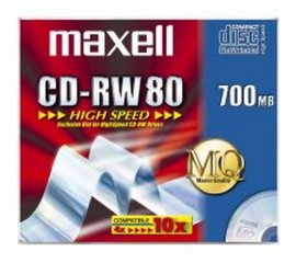 MAXELL CD-RW 700MB 80min HIGH SPEED 10 PZ.