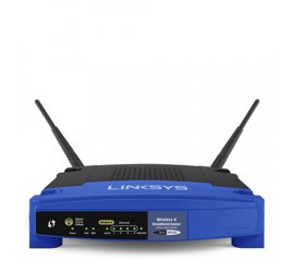 LINKSYS WRT54GL-EU ROUTER WIRELESS 54MBPS 4 LAN RJ-45 10/100 NERO BLU