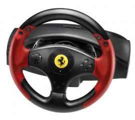 Thrustmaster Ferrari Racing Wheel Red Legend PS3&PC Sterzo + Pedali PC,Playstation 3 Nero, Rosso