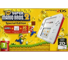 "Nintendo 2DS + New Super Mario Bros. 2 console da gioco portatile Rosso, Bianco 8,97 cm (3.53"") Touch screen 1 GB Wi-Fi"