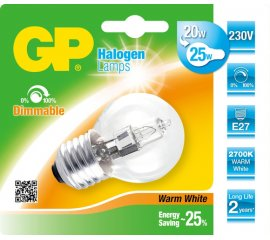GP Lighting 047506-HLME1 lampadina alogena 20 W E27 Bianco caldo D