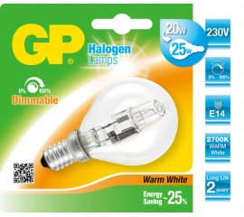 GP Lighting 047513-HLME1 lampadina alogena 20 W E14 Bianco caldo D