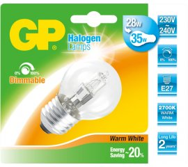 GP Lighting 046646-HLME1 lampadina alogena 30 W E27 Bianco caldo D