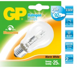GP Lighting 046592-HLME1 lampadina alogena 77 W E27 Bianco caldo D