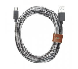 Native Union BELT-MUSB-ZEB-3 cavo USB 3 m Micro-USB A USB A Nero, Bianco