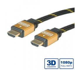 ROLINE GOLD HDMI High Speed Cable + Ethernet, M/M 2 m cavo HDMI