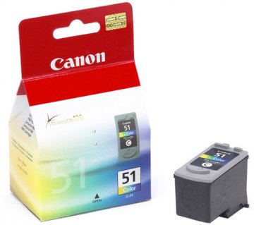 CANON CL-51 CARTUCCIA MULTICOLOR PER PIXMA IP2200-6210D-6220D/MP150-170-450-160-180-460/MX300-310 275PG (0618B001)