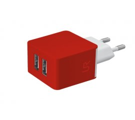 Trust Dual Smartphone Wall Charger Interno Rosso