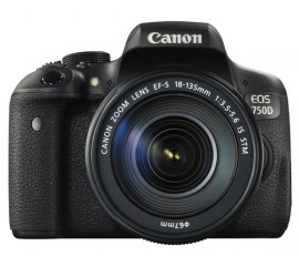 Canon EOS 750D + EF-S 18-135mm Kit fotocamere SLR 24,2 MP CMOS 6000 x 4000 Pixel Nero