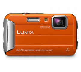 "PANASONIC DMC-FT30 FOTOCAMERA DIGITALE COMPATTA 16.1 Mpx ZOOM OTTICO 4X DISPLAY 2.7"" WATERPROOF 8MT SLOT SD-SDXC-SDHC COLORE ORANGE/BLACK GARANZIA ITALIA (DMC-FT30EG-D)"