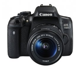 Canon EOS 750D + EF-S 18-55mm Kit fotocamere SLR 24,2 MP CMOS 6000 x 4000 Pixel Nero