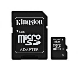 Kingston Technology 4GB microSDHC memoria flash Classe 4