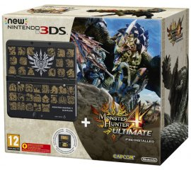 "Nintendo New 3DS + Monster Hunter 4 Ultimate Ltd Ed console da gioco portatile 8,46 cm (3.33"") 1 GB Touch screen Wi-Fi Nero"