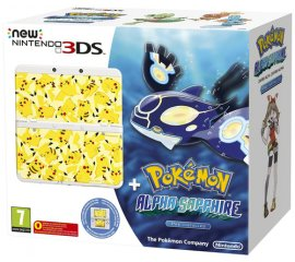 "Nintendo New 3DS + Pokémon Alpha Sapphire Ltd Ed console da gioco portatile 8,46 cm (3.33"") 1 GB Touch screen Wi-Fi Bianco"