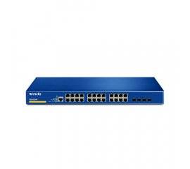 Tenda TEG3224P switch di rete Gestito L2 Gigabit Ethernet (10/100/1000) Blu Supporto Power over Ethernet (PoE)