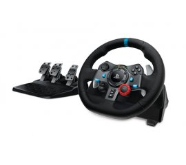 Logitech G G29 Nero USB 2.0 Sterzo + Pedali Analogico Playstation 3, PlayStation 4