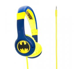 OTL Technologies DC Comics Batman The Caped Crusader Cuffie Padiglione auricolare Blu, Giallo