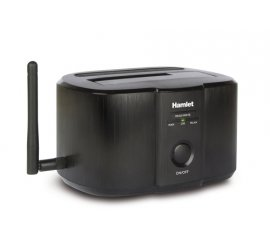 "HAMLET HXDDWIFI DOCKING STATION PER HDD SATA 2.5""/3.5"" MAX 4TB CONNESSIONI USB 3.0 + WIRELESS COLORE NERO"