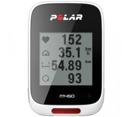 Polar M450 Computer da bicicletta wireless Bianco