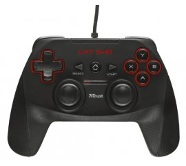 Trust GXT 540 Gamepad PC, Playstation 3 RF Nero