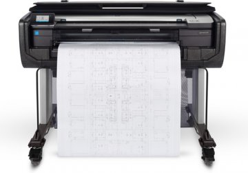 "HP DESIGNJET T830 MFP PLOTTER THERMAL INK-JET FORMATO MAX 36"" A0/A1/A2 SCHEDA DI RETE GIGABIT ETHERNET 2.400x1.200 DPI COLORE NERO"