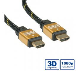 ROLINE GOLD HDMI High Speed Cable + Ethernet, M/M 3 m cavo HDMI