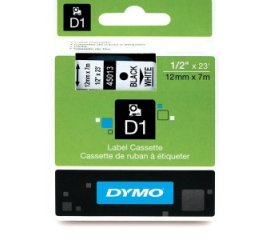 DYMO D1 PACK 2xNASTRO 12MMx7MT COLORE BIANCO STAMP