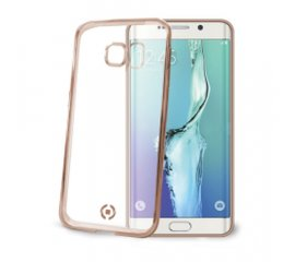 CELLY GALAXY S6 EDGE PLUS COVER IN TPU COLORE TRASPARENTE/ORO