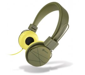 MELICONI HP SPEAK STREET CUFFIE CON MICROFONO COLORE VERDE MILITARE / GIALLO
