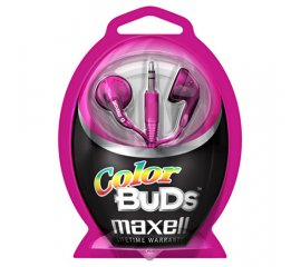 Maxell Colour Budz Headphones Pink Cuffia Rosa