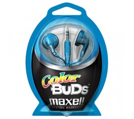 Maxell Colour Budz Headphones Blue Cuffia Blu