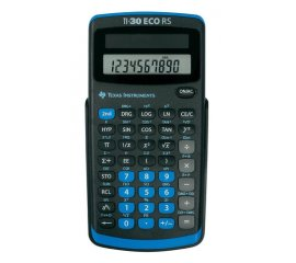 Texas Instruments TI-30 ECO RS calcolatrice Tasca Calcolatrice scientifica Nero