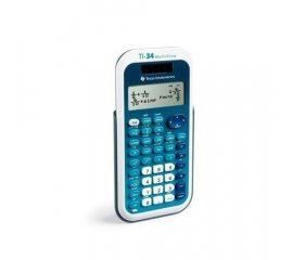 Texas Instruments TI-34 MultiView calcolatrice Tasca Calcolatrice scientifica Blu, Bianco