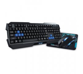 E-blue Cobra Gaming Combo Set tastiera USB Nero, Blu
