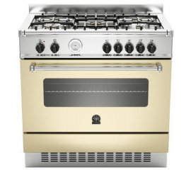 Bertazzoni La Germania AM9 5C 61 A CR T cucina Piano cottura Crema Gas