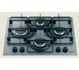 Hotpoint TQ 640 S (ICE) IX/HA piano cottura Nero Incorporato Gas 4 Fornello(i)
