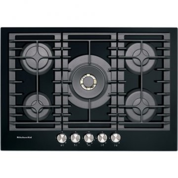 KitchenAid KHGD5 77510 piano cottura Nero Incasso Gas 5 Fornello(i)