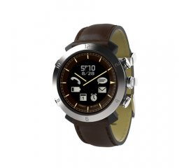 COGITO CLASSIC Leather smartwatch Marrone, Acciaio inossidabile